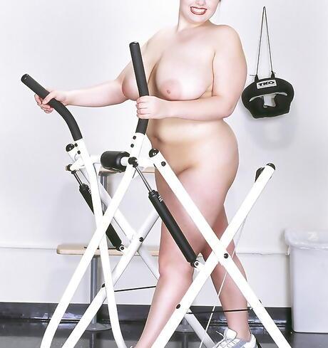 BBW in Gym Sex Pics
